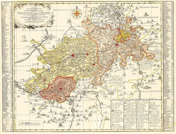 karte vogtland Historische Karte: Vogtland – Neustädtische Kreis R
