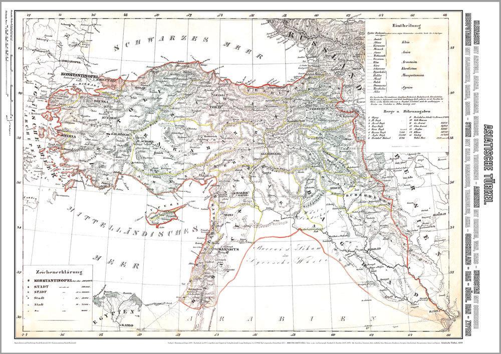 Karte Türkei.Historische Karte Asiatische Türkei 1859 Plano
