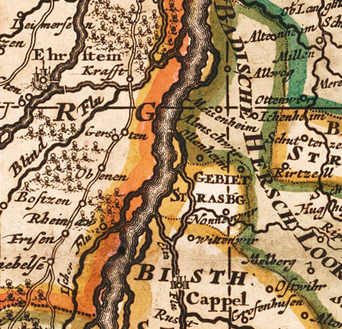 Elsass Auf Karte.Historische Karte Elsass 1702 Plano Von Visscher
