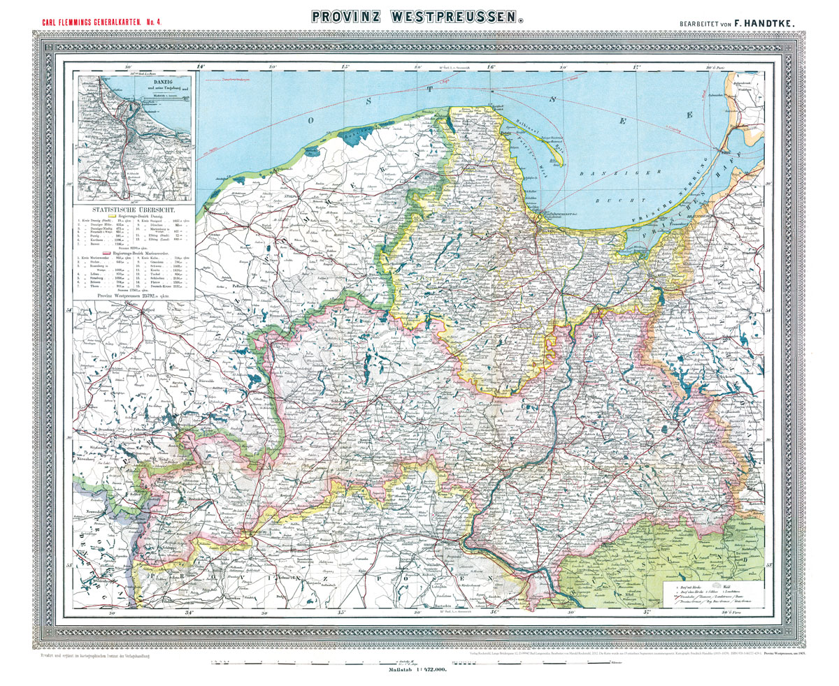 Historische karte provinz westpreussen um 1905 plano for The 8 boutique b b barcelona