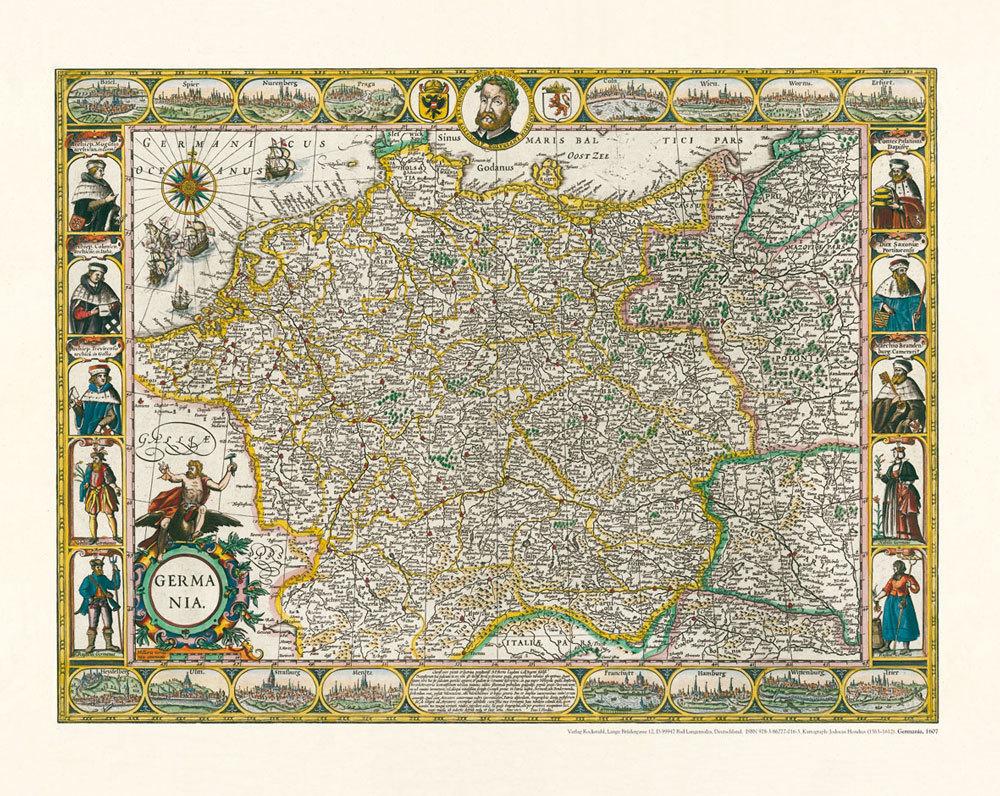 Alte Landkarte Deutschland