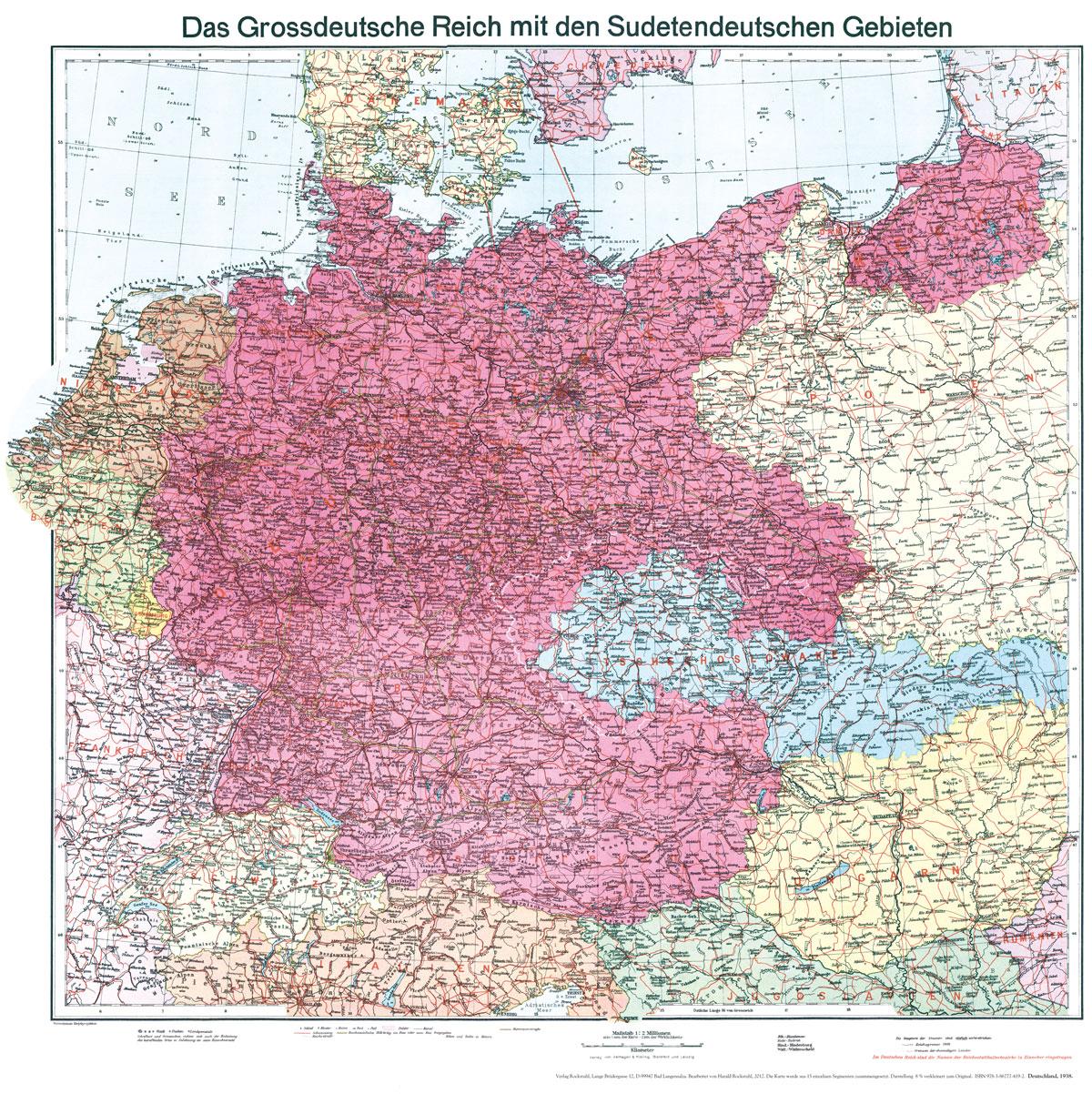 Historische Karte: Deutschland Sudetenland 42 [Plano] - R - Deutschland 1939 Karte
