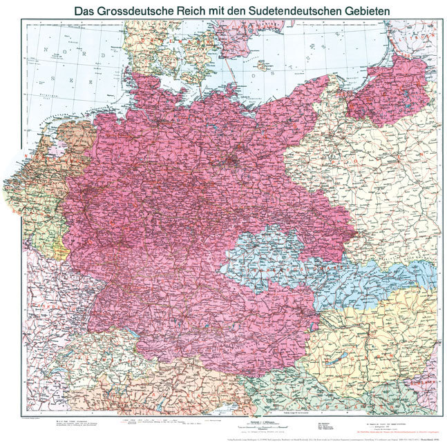 alte karte deutschland 1940 Historische Karte: Deutschland Sudetenland 1938 [Plano]   R alte karte deutschland 1940